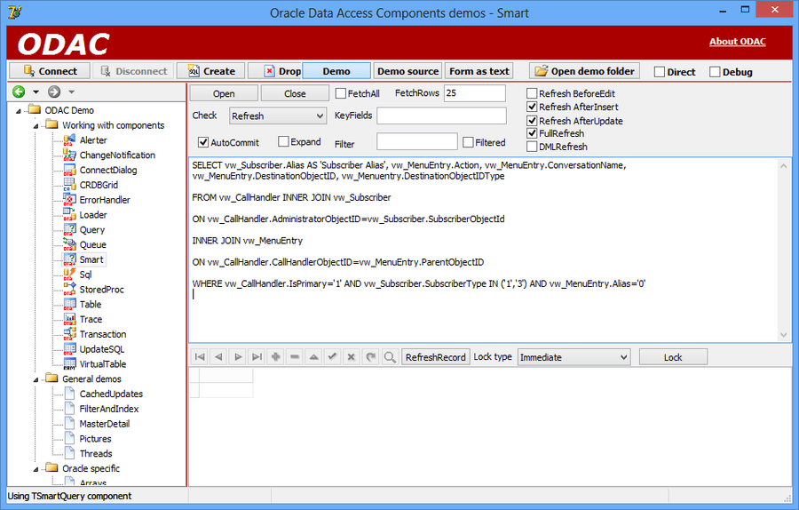 Screenshot of Oracle Data Access Components (ODAC)