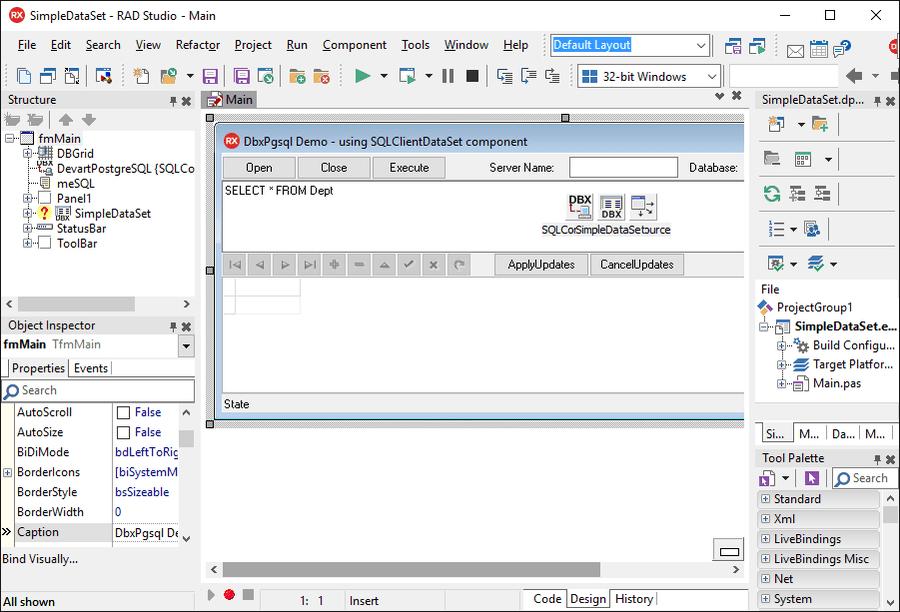 Screenshot of dbExpress Driver for PostgreSQL