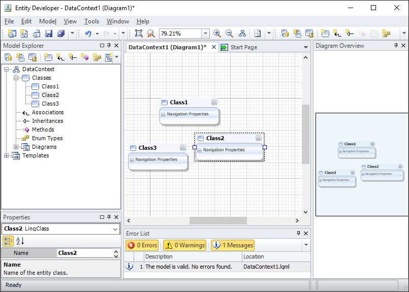 Screenshot of Entity Developer