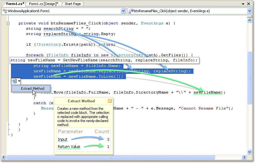Screenshot of Refactor! Pro for .NET