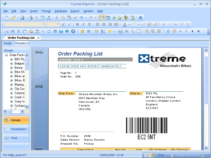 Barcode Tools for Crystal Reports のスクリーンショット