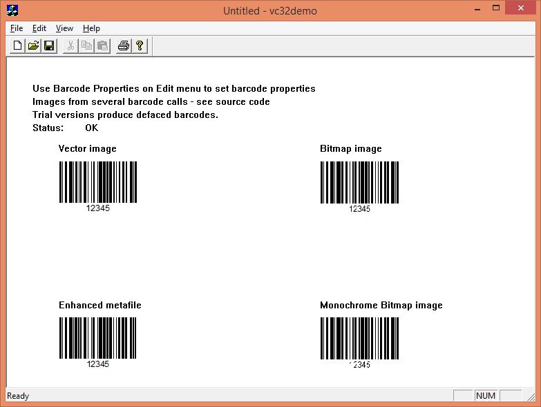 dBarcode DLL - GS1 (英語版) のスクリーンショット