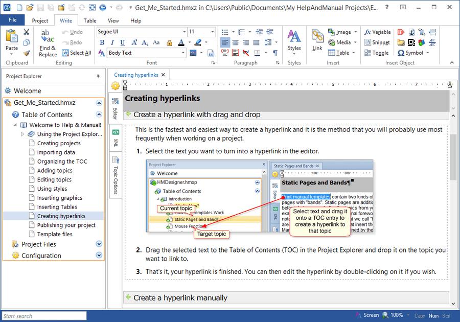 Screenshot of Help & Manual Professional