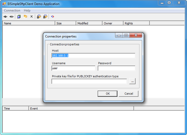Screenshot of SFTPBlackbox .NET Client - In-house