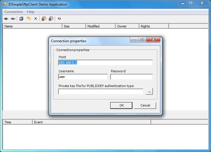 Screenshot of SFTPBlackbox .NET Client-Server - In-house