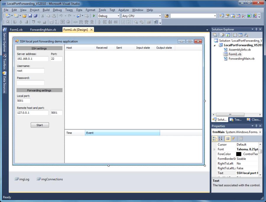 Screenshot of SSHBlackbox .NET Client - Vendor