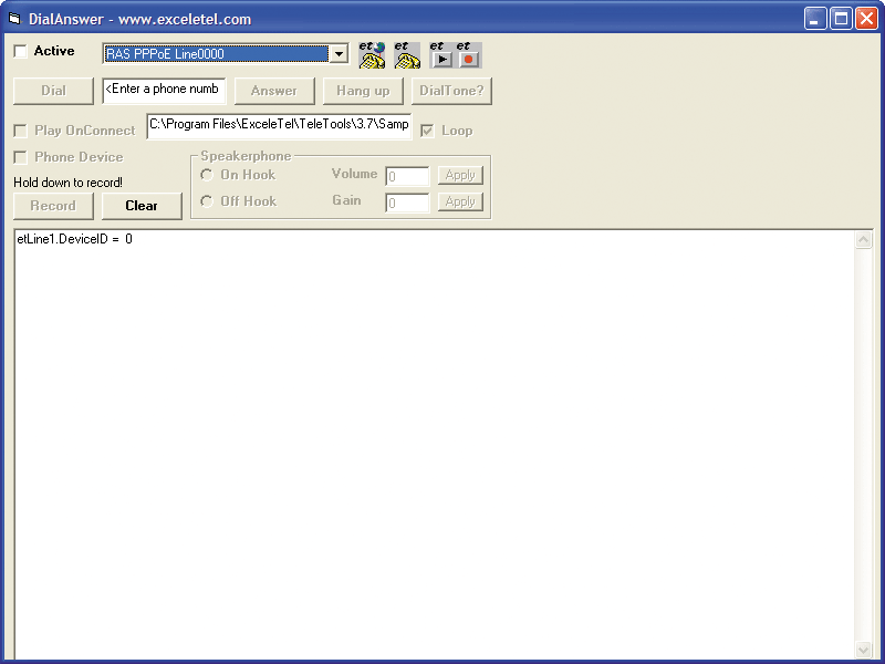 Screenshot of ExceleTel TeleTools Professional