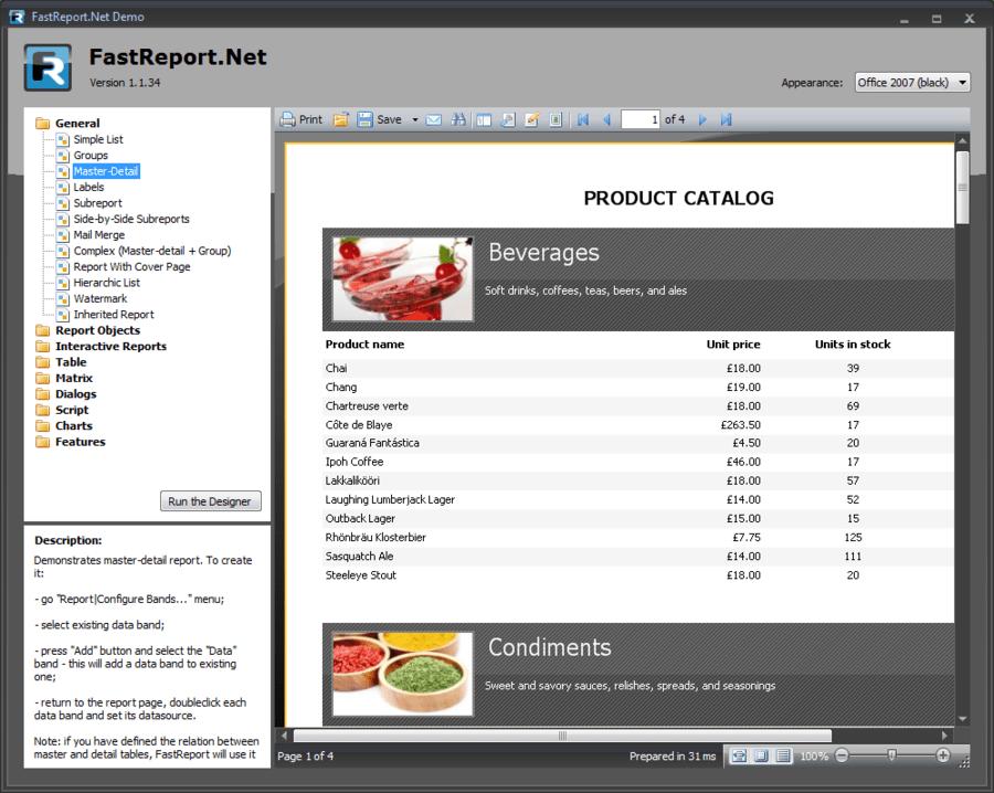 Screenshot of FastReport.Net Basic