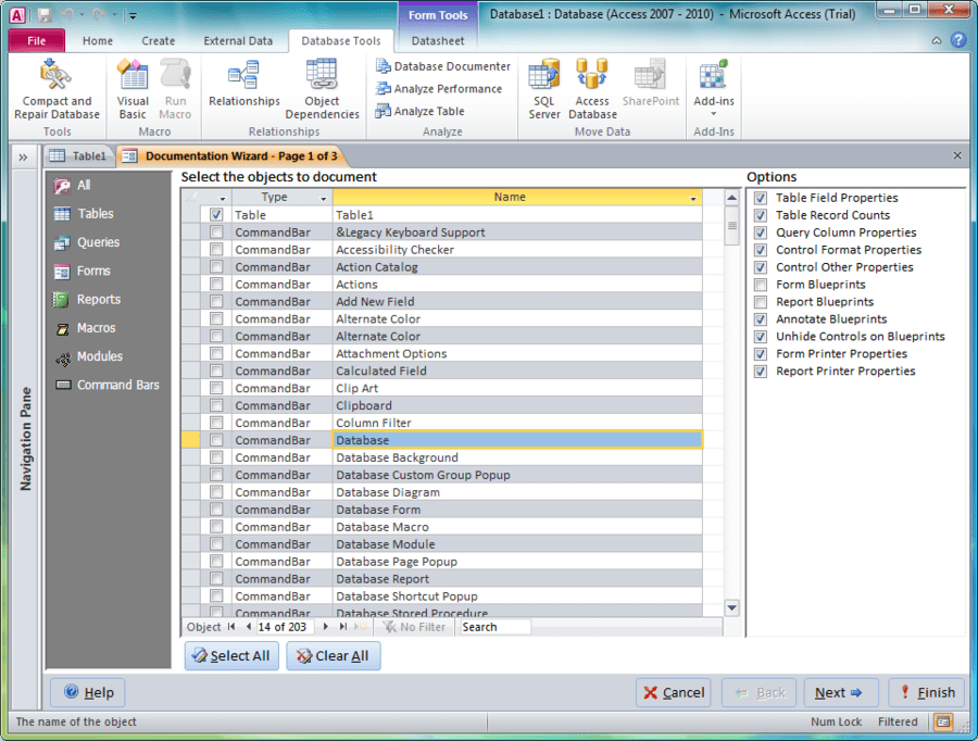 Screenshot of Total Access Developer Suite