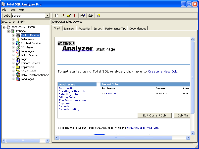 Screenshot of Total SQL Analyzer Pro