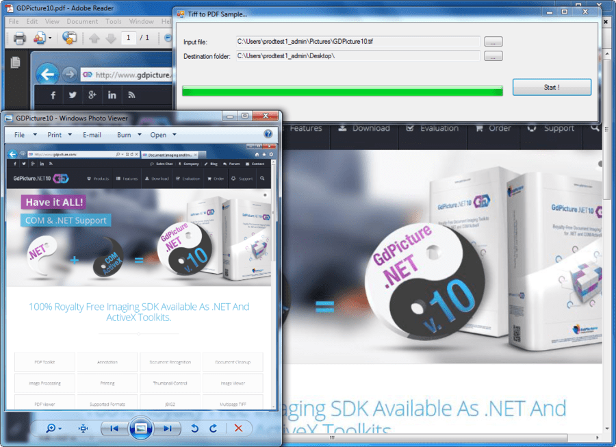 Screenshot of GdPicture.NET Document Imaging SDK