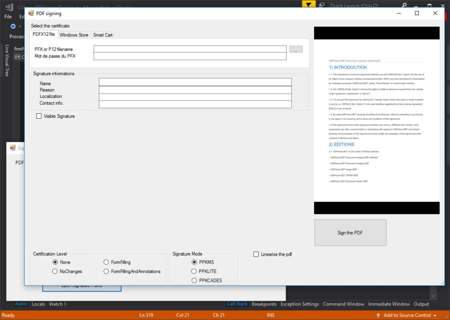 Screenshot of GdPicture.NET Managed PDF Plugin