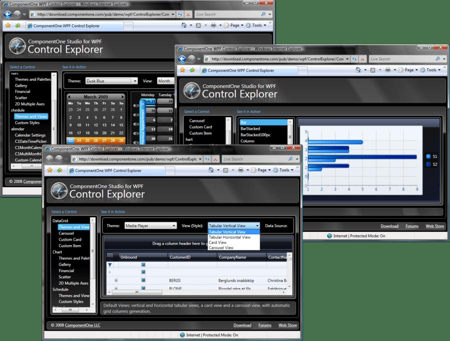 Screenshot of ComponentOne Studio WPF