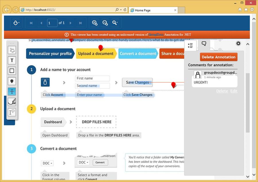 Screenshot of GroupDocs.Total for .NET