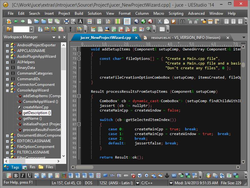 Screenshot of UEStudio