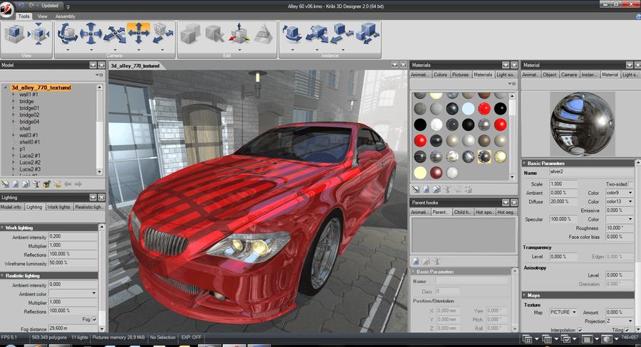 Screenshot of Kribi 3D