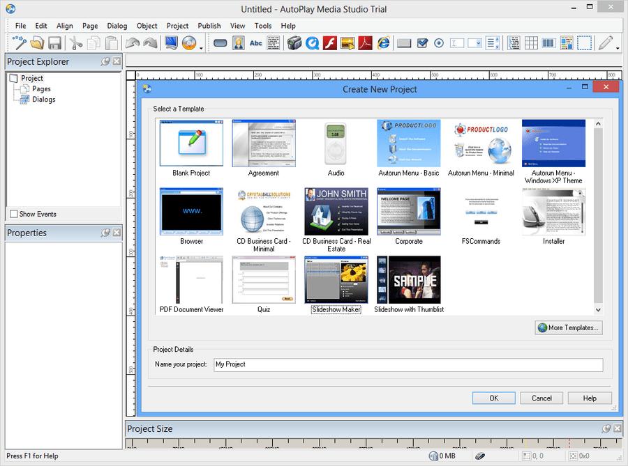 Screenshot of AutoPlay Media Studio