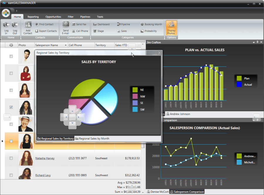 Screenshot von Infragistics NetAdvantage for Win Client
