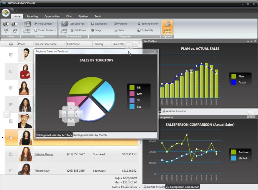 Screenshot von Infragistics NetAdvantage for Win Client