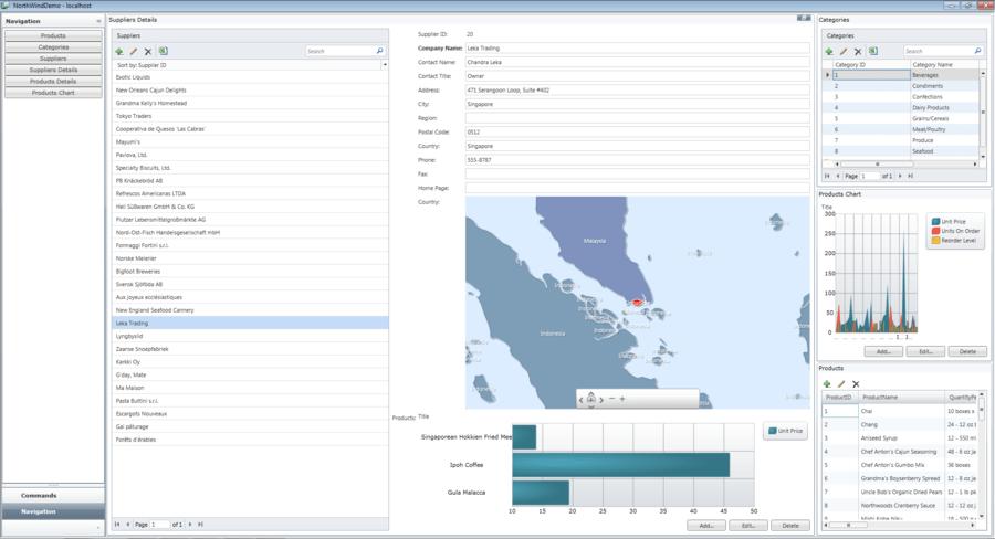 Captura de pantalla de NetAdvantage for Visual Studio LightSwitch