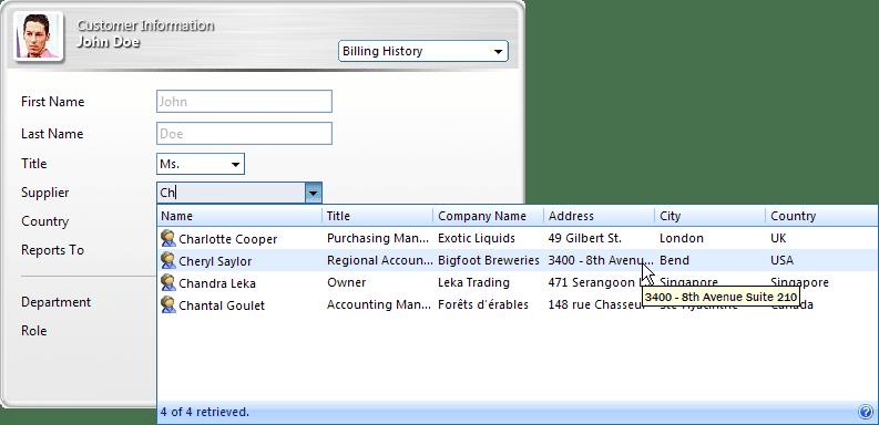Screenshot of WebCombo