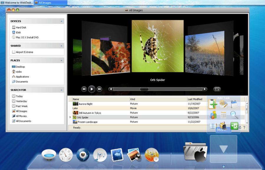 Screenshot of WebDesktopManager