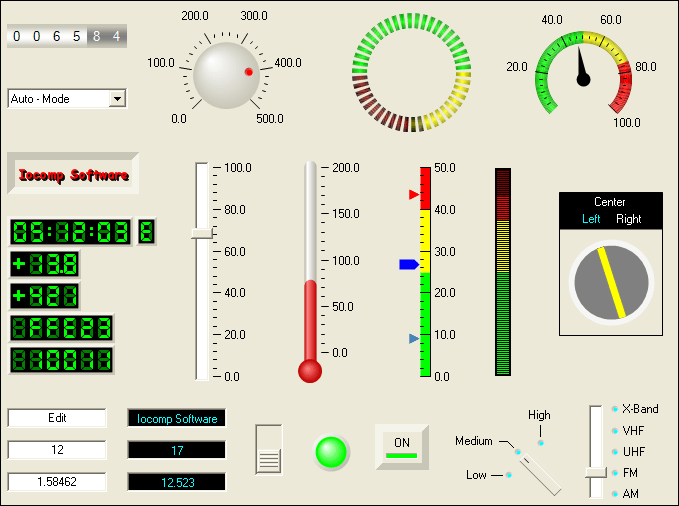Screenshot of Iocomp .NET WinForms Std Pack