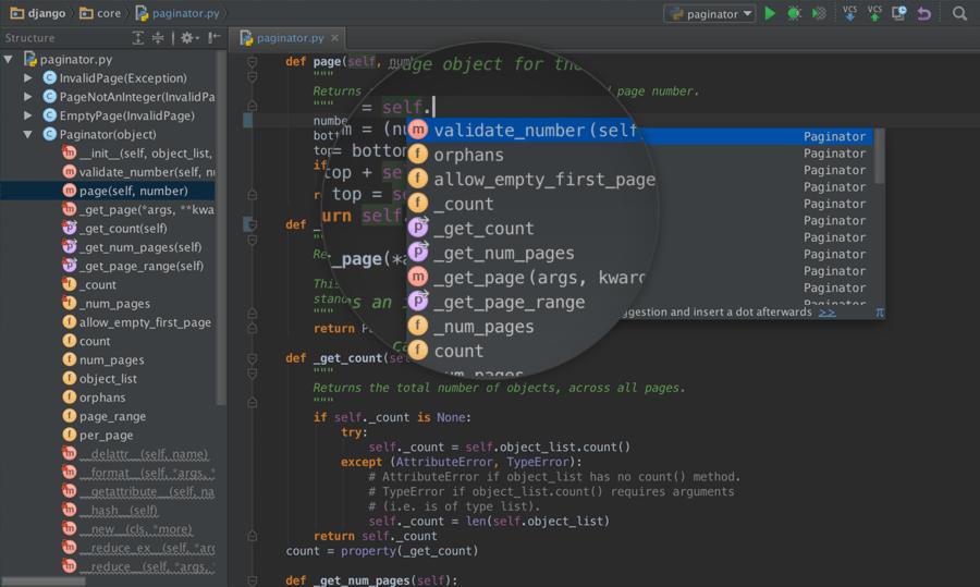 Screenshot of PyCharm