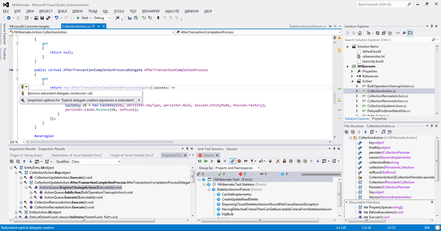Screenshot of ReSharper