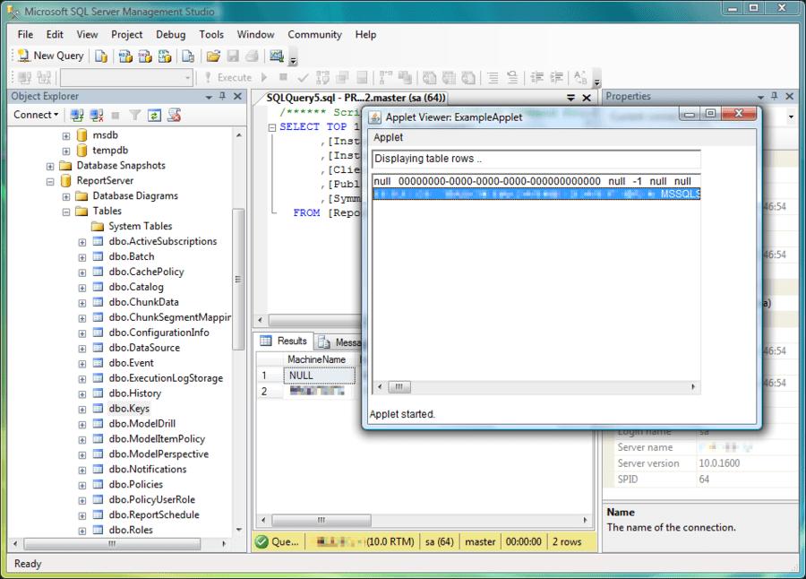 Captura de pantalla de JSQLConnect