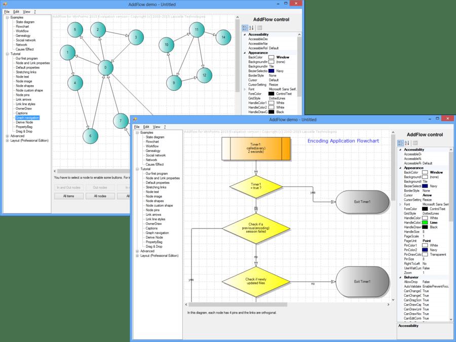 Screenshot of AddFlow for WinForms Standard