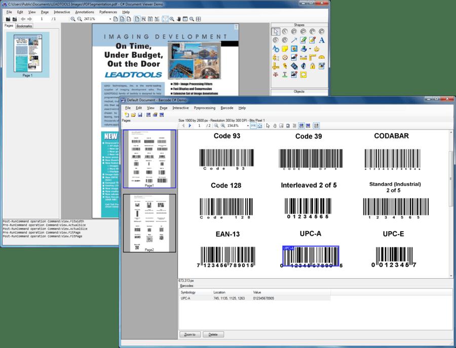 Screenshot of LEADTOOLS Pro Suite