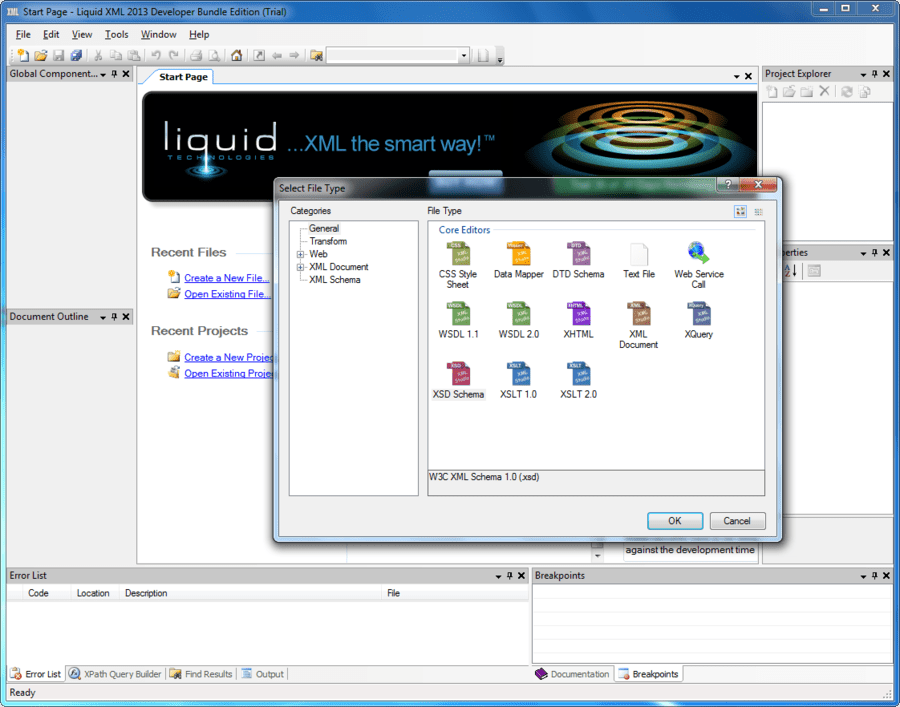 Screenshot of Liquid XML Studio Starter Edition