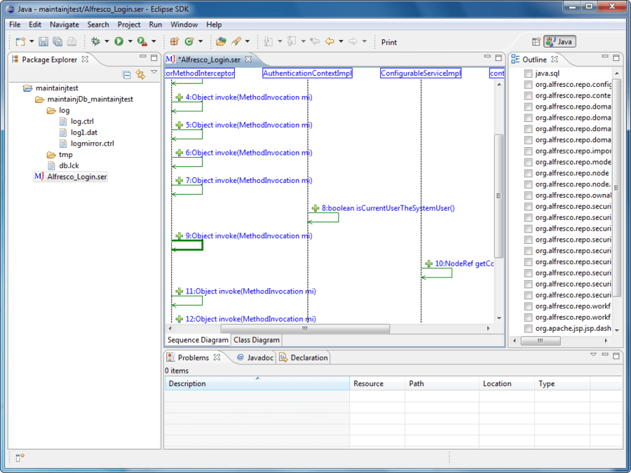 Screenshot von MaintainJ