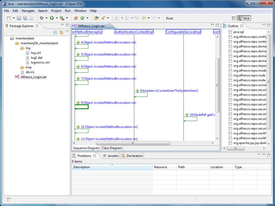 Screenshot of MaintainJ