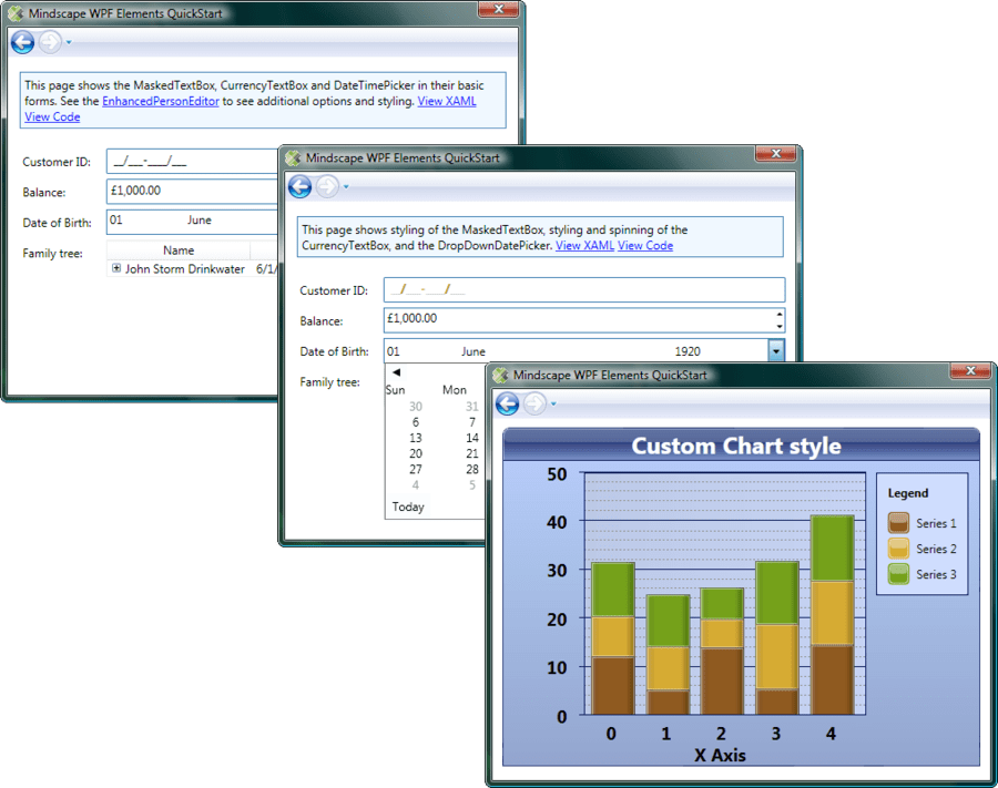 Screenshot of Mindscape WPF Elements