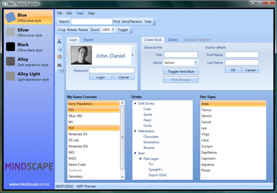 mindscape wpf themes