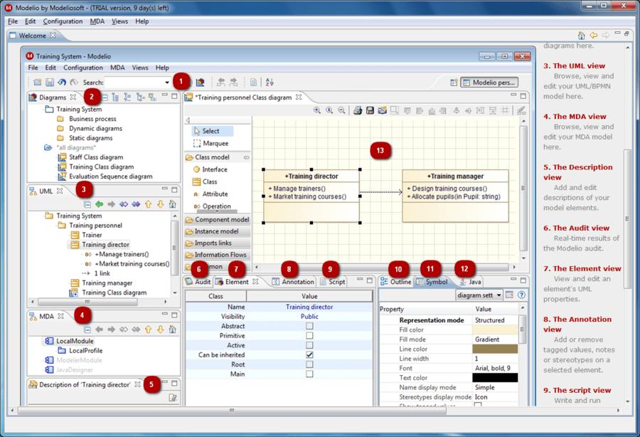 Screenshot of Modeliosoft SQL Solution