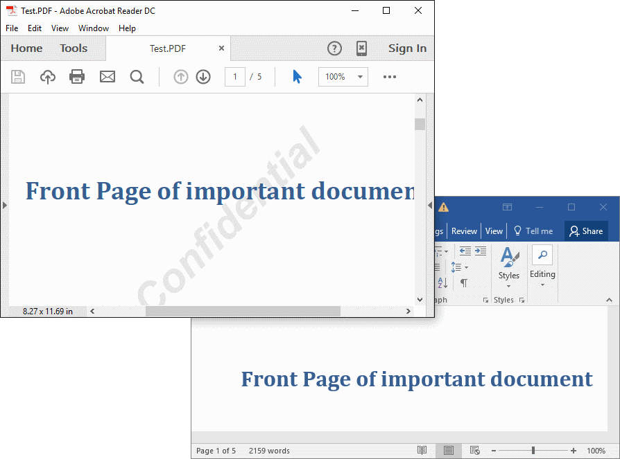 Screenshot of Muhimbi PDF Converter Services