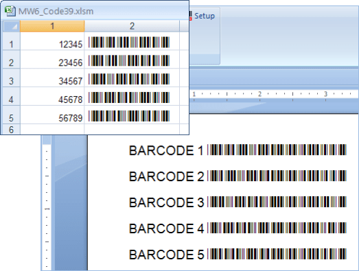 Screenshot of MW6 Barcode Fonts