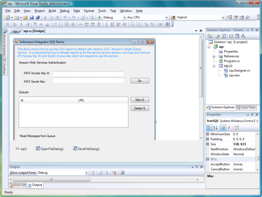 Screenshot of Amazon Integrator ActiveX/COM Edition