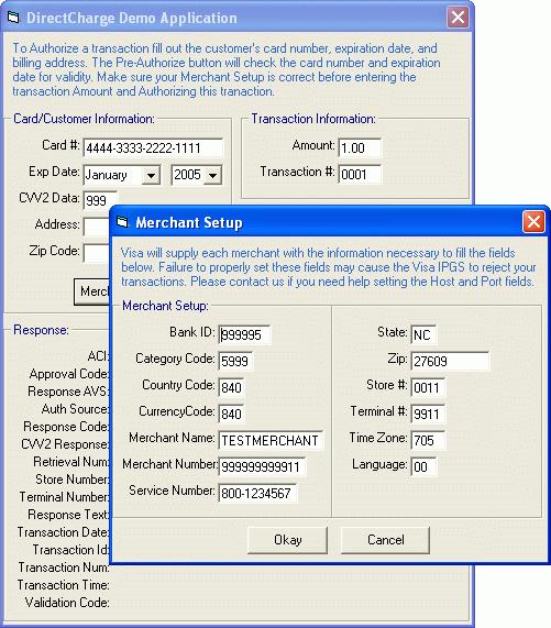 Screenshot of E-Payment Integrator C++ Edition