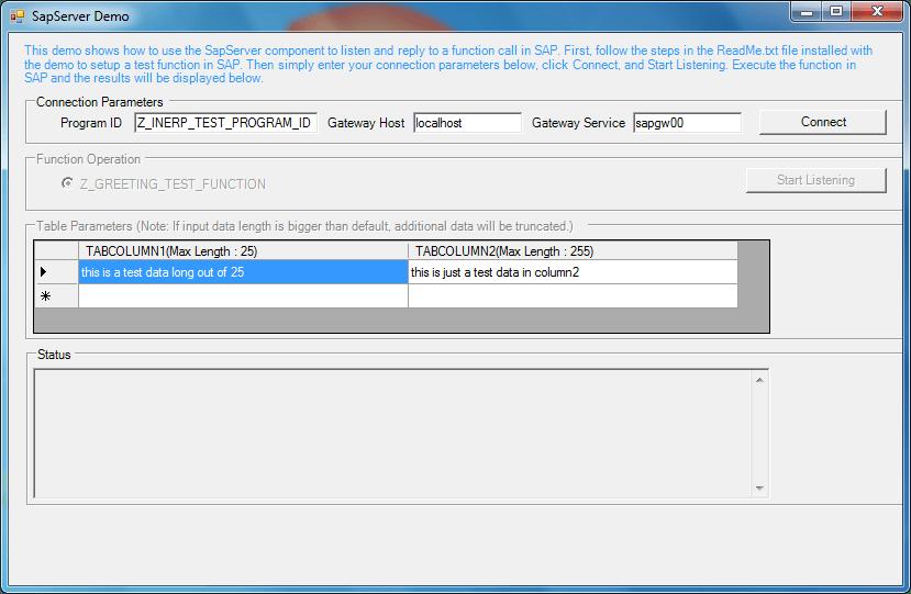 Screenshot of ERP (SAP) Integrator Java Edition