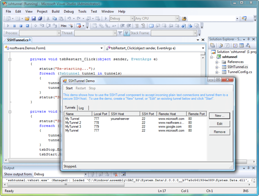 Screenshot of IP*Works! SSH C++ Edition