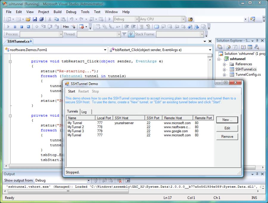 Screenshot of IP*Works! SSH C++ Builder Edition