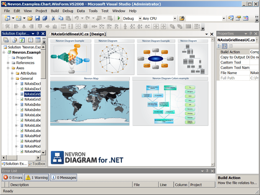 Captura de pantalla de Nevron Diagram for .NET