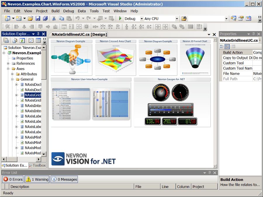 Captura de pantalla de Nevron Vision for .NET Enterprise