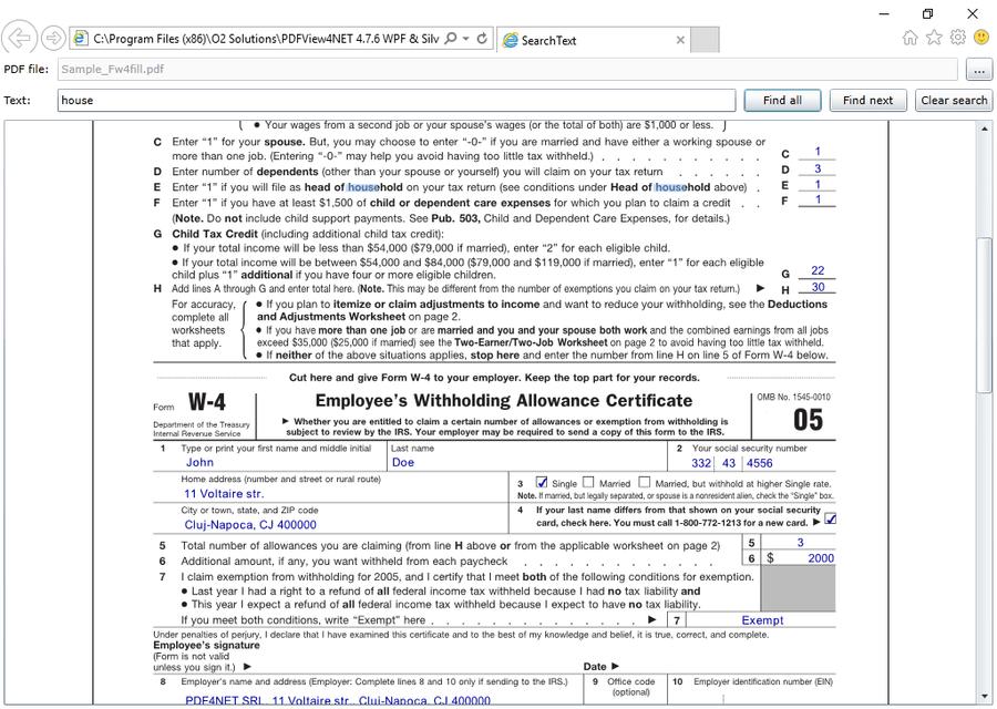 Screenshot of PDFView4NET WPF & Silverlight Edition