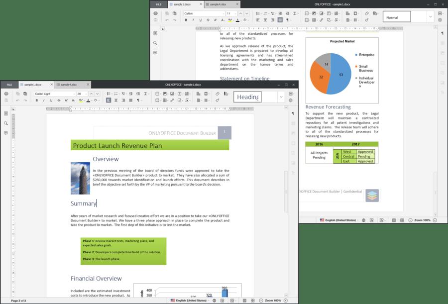 Screenshot of ONLYOFFICE Document Builder