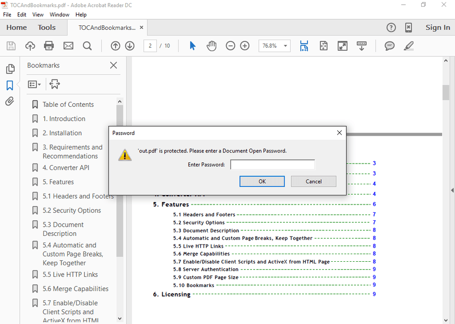 Screenshot of ExpertPDF Pdf Security